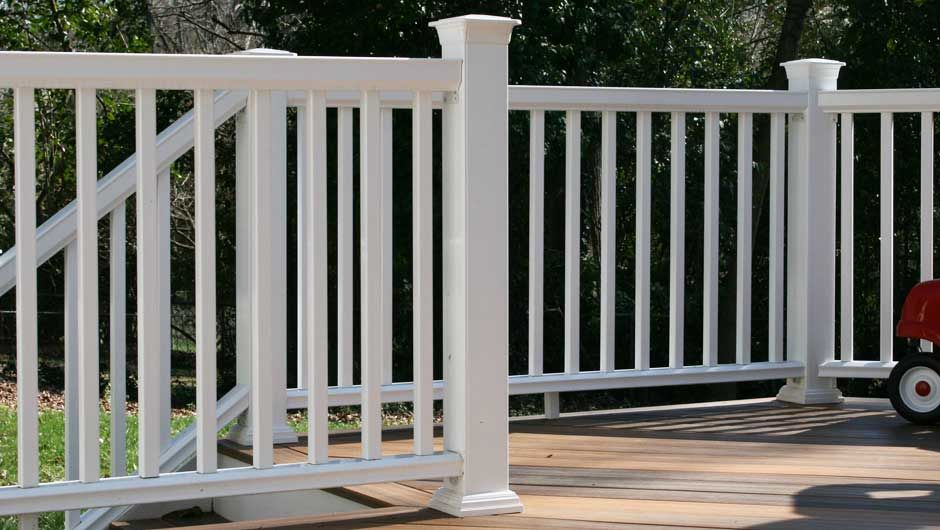 white fiberon rails