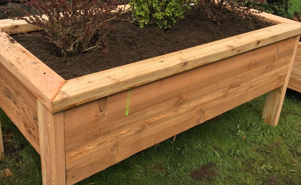 elevated garden box
