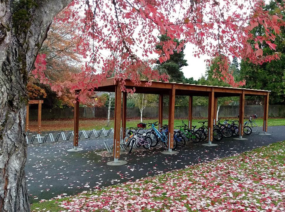 Mary Woodward Elementary School Bike Rack